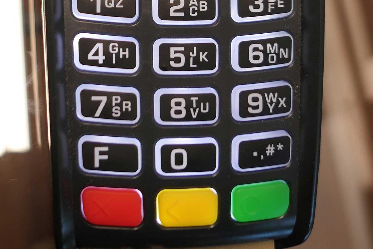 3つの色のボタン