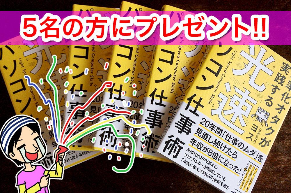5名の方にプレゼント!!