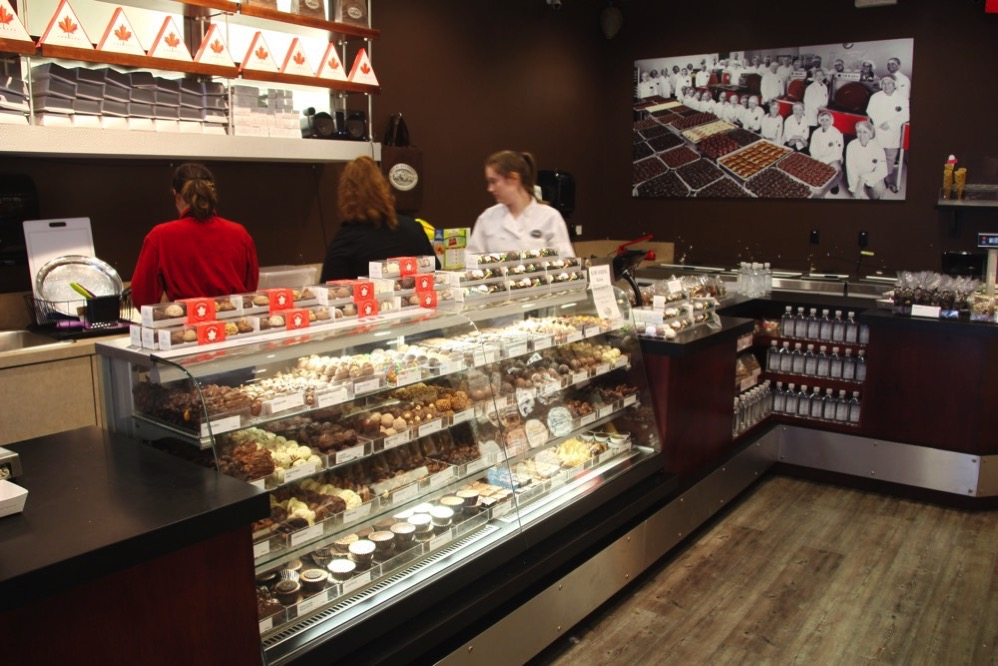 Rocky Mountain Chocolate Factory ビクトリア店の店内