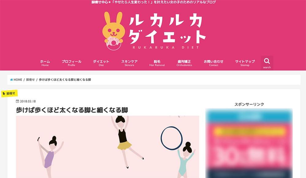 亀山ルカさんのブログ「ルカルカダイエット」
