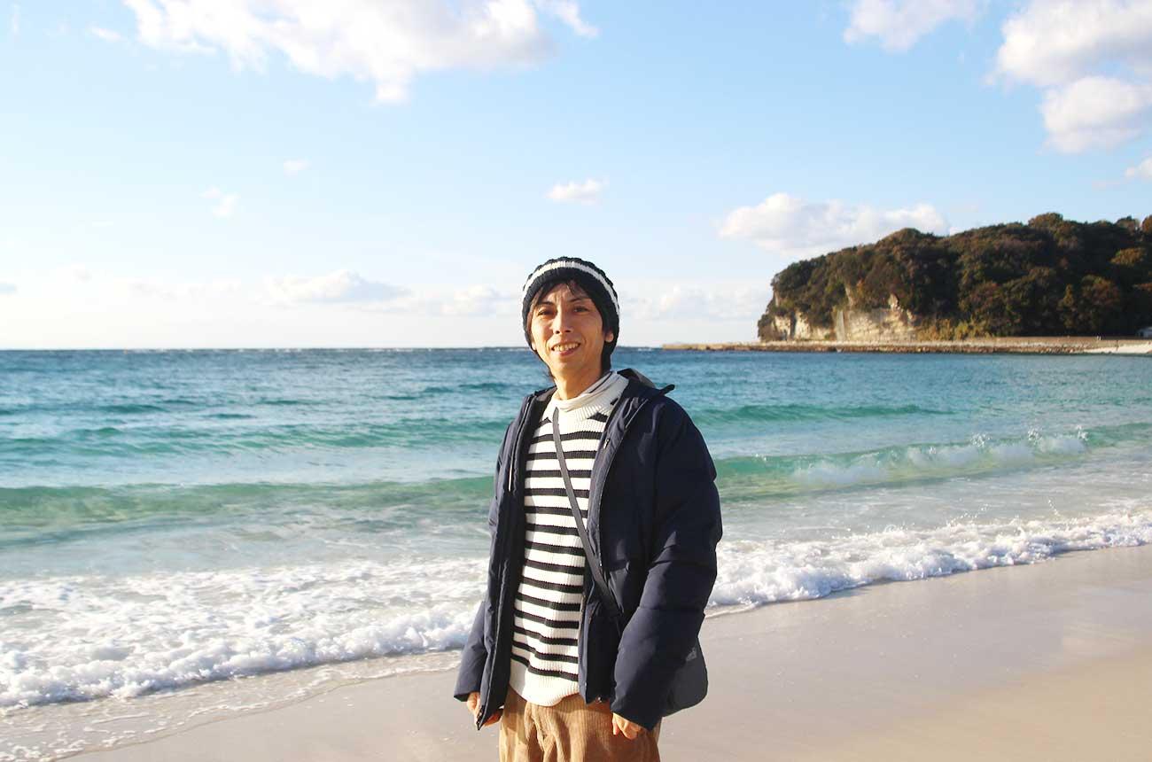 白良浜で記念撮影