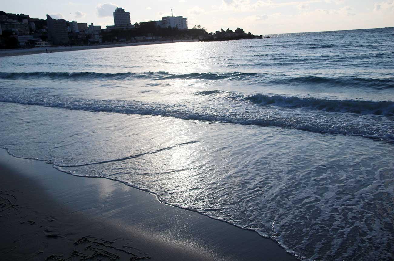 夕方の白良浜