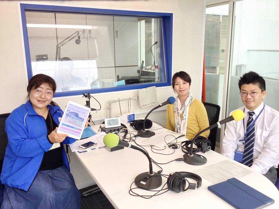 栃木県小山市の地域コミュニティFMラジオ「おーラジ」に出演