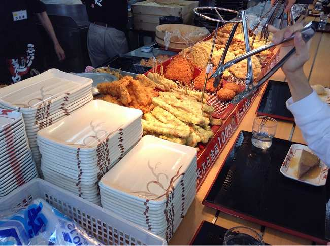 天ぷらコーナーも充実