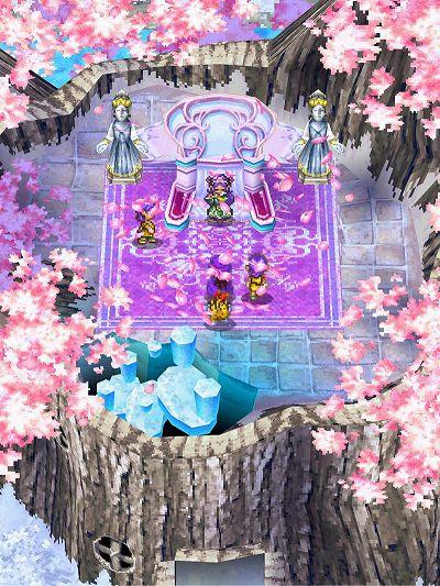 桜が咲き乱れる