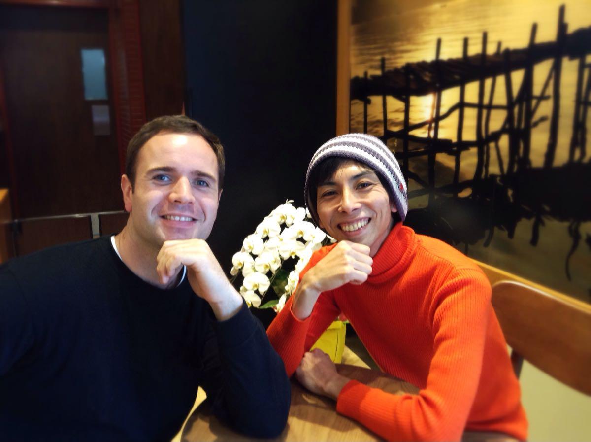 香川県で英会話教室を経営している友達のタイラーと一緒に
