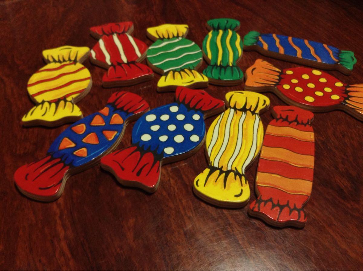 キャンディーは41種類の色の組み合わせ