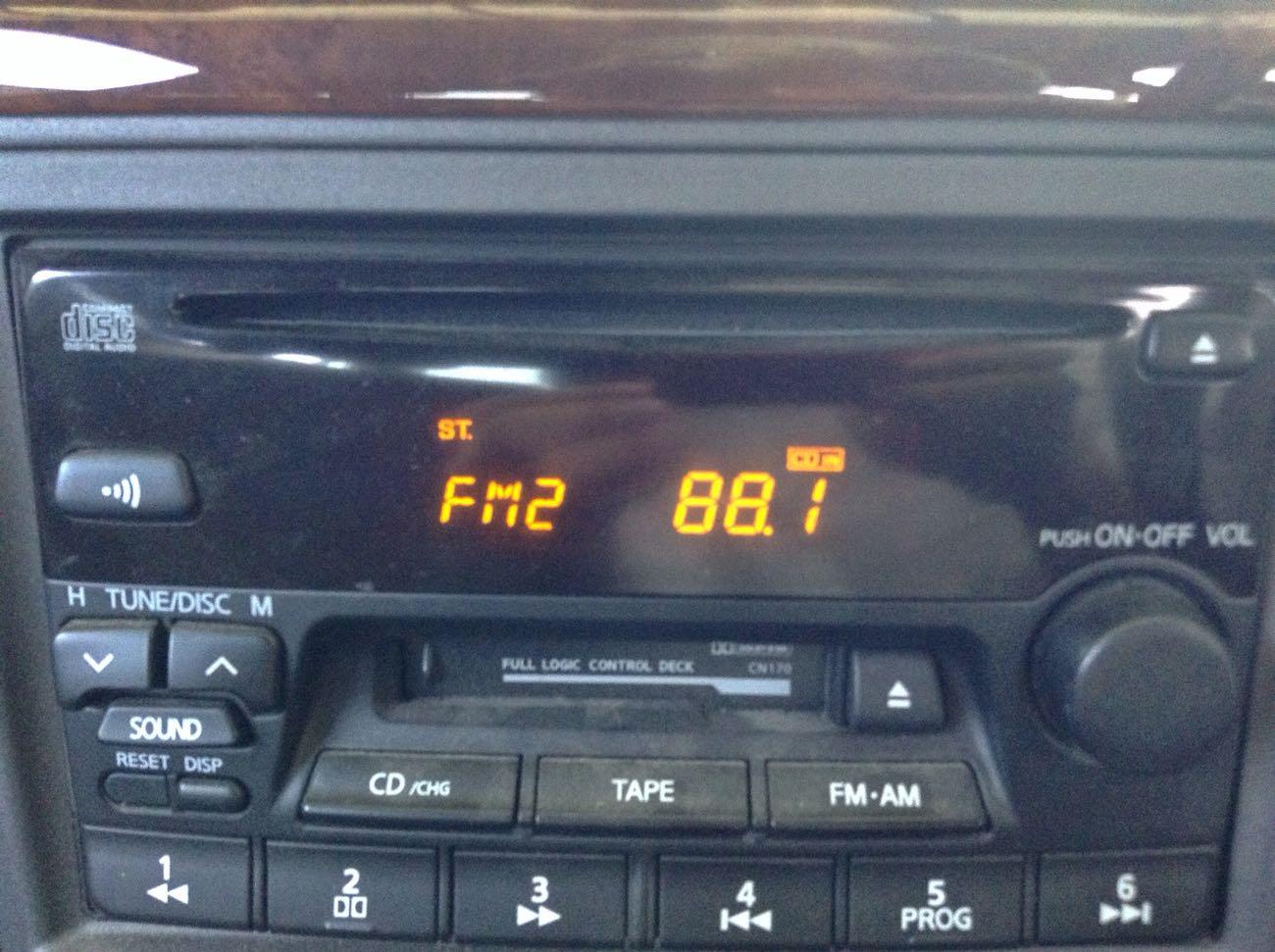 車のラジオ局番号も合わせてやる