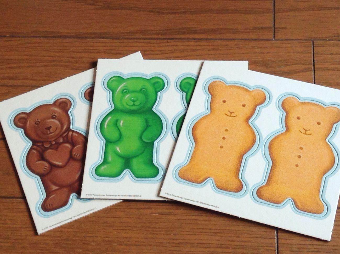 テディ・メモリーのカード(お菓子)