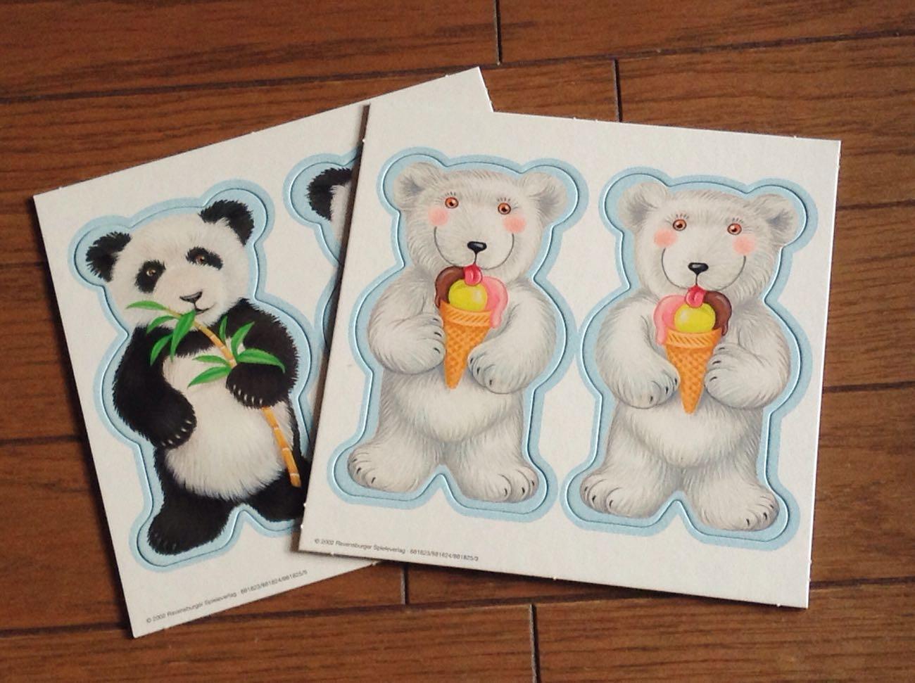 テディ・メモリーのカード(パンダとシロクマ)