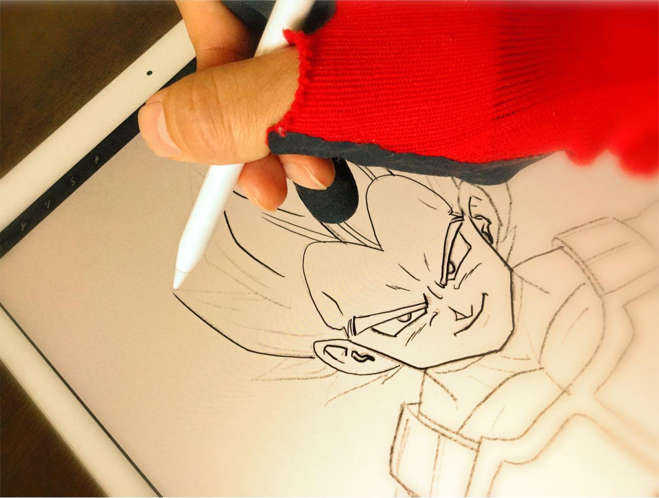 Apple Pencilでベジータを描いたよ