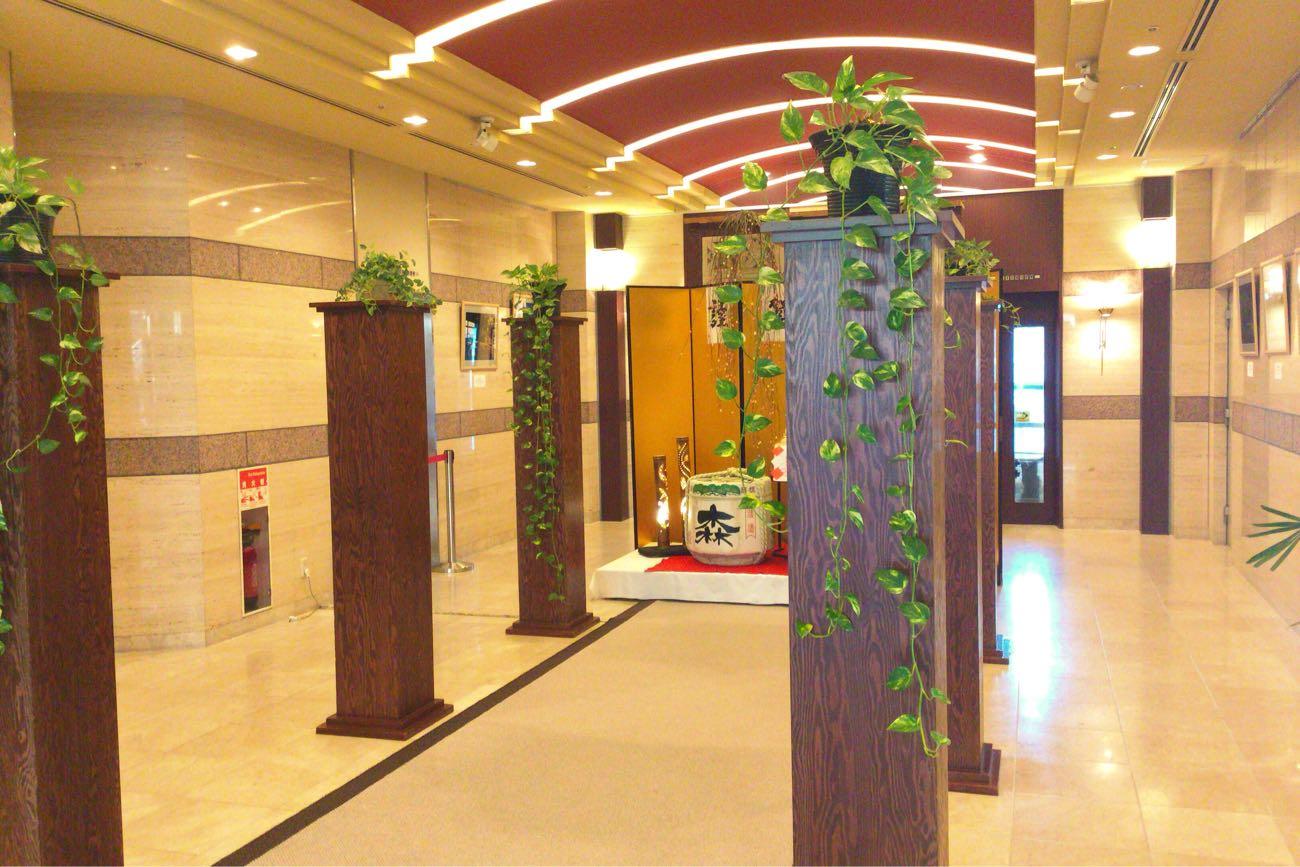 ベイリゾートホテル小豆島のエントランス