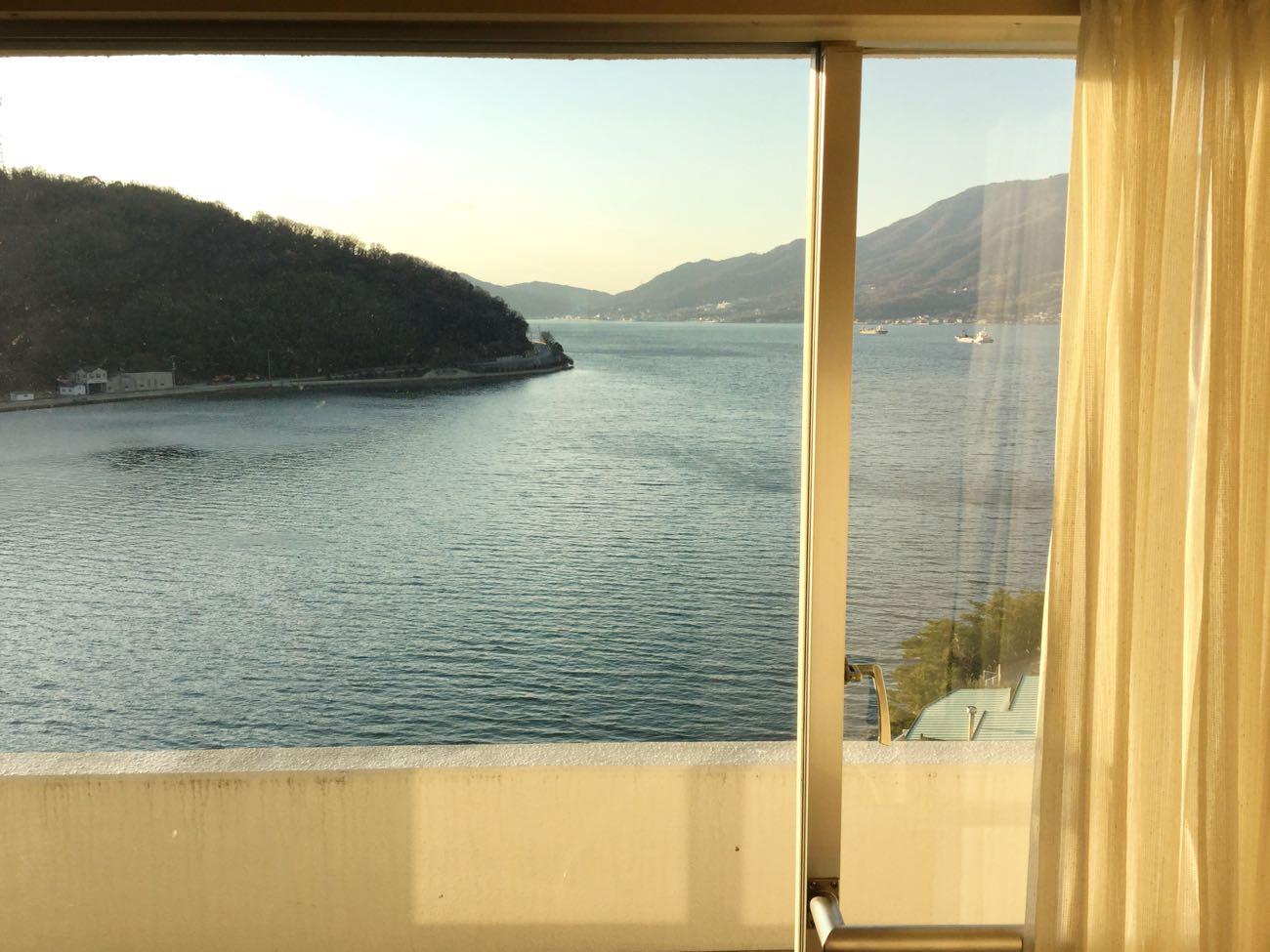瀬戸内海と島が見える最高の景色です!