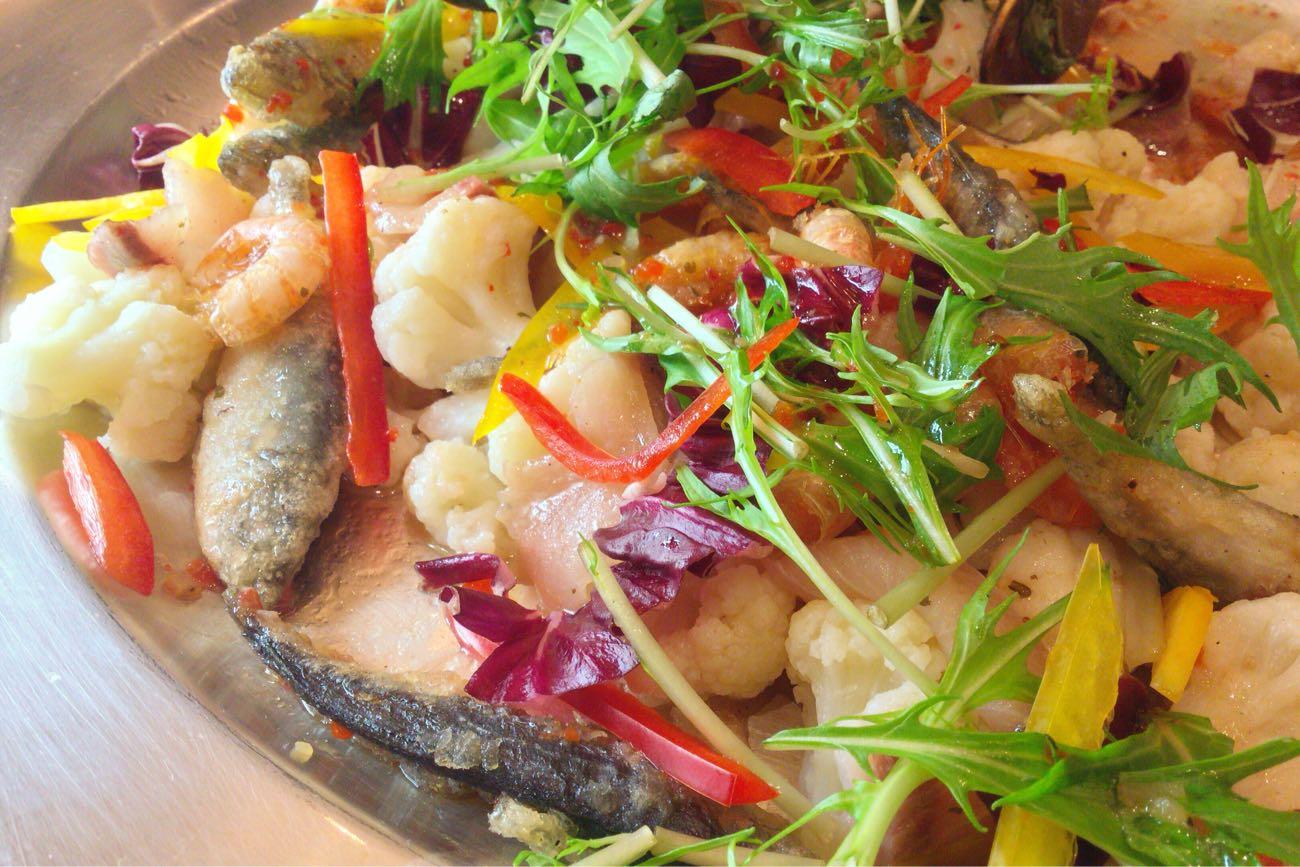 瀬戸内の魚介と野菜のカルパッチョ
