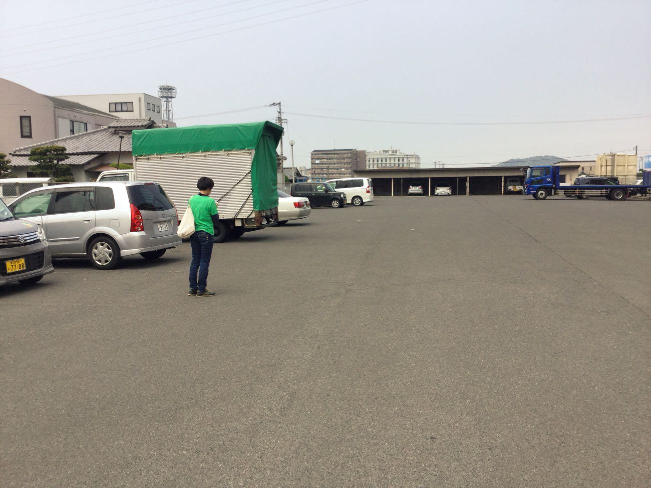 駐車場が広い
