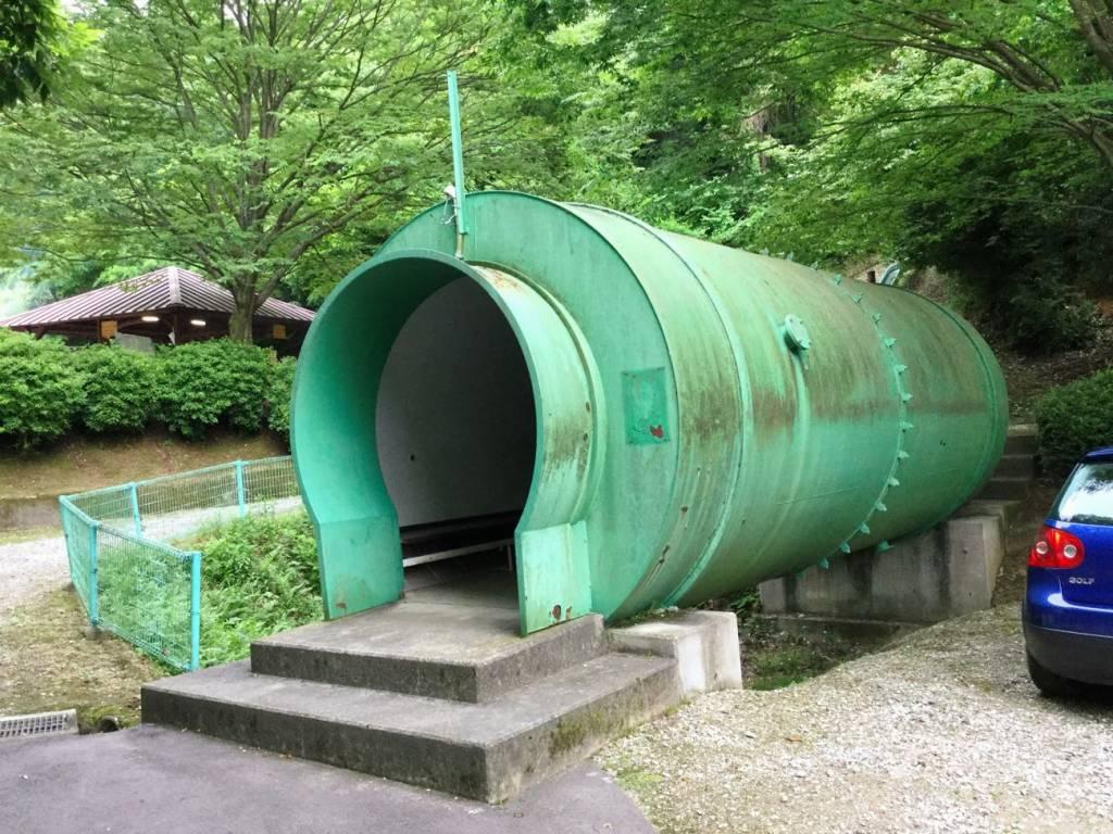 入り口から見えていた青緑色のドーム