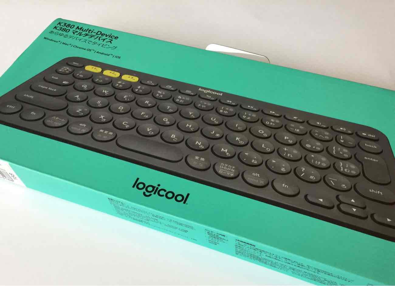 Logicool(ロジクール)の「K380」の箱