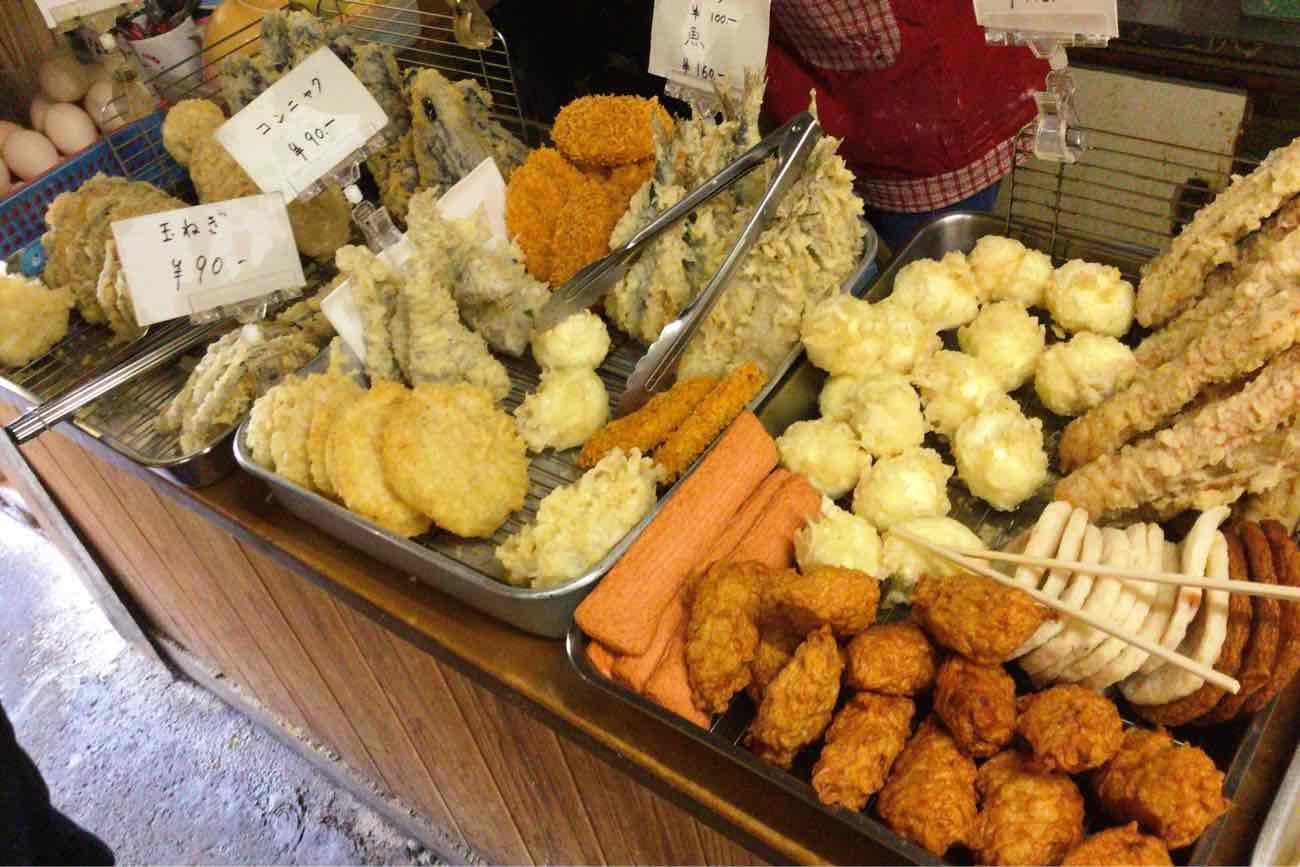 宮川製麺所の天ぷらコーナー