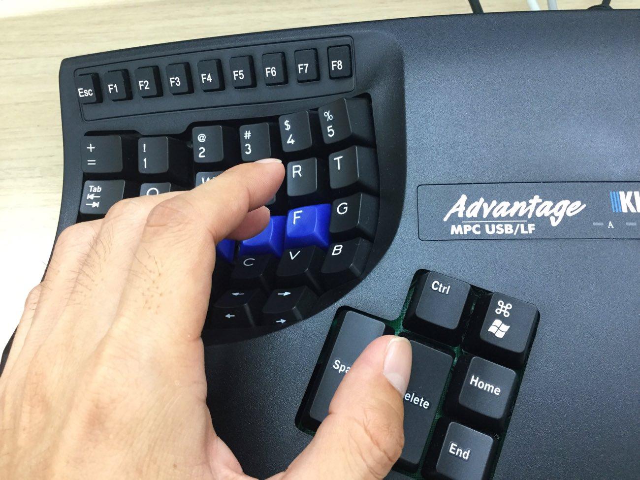 超マニアックなキネシスのコンタードキーボード