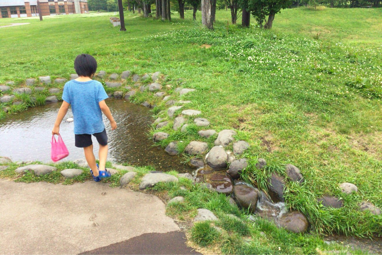 小川が作られてます