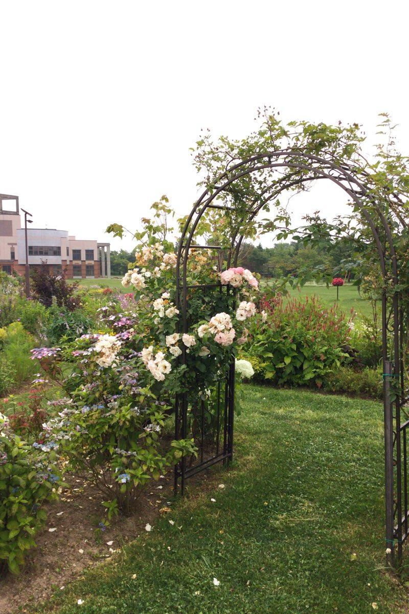 花のゲートもあるよ。