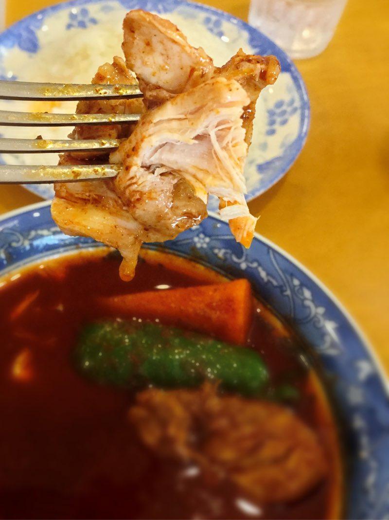 チキンは超柔らかい