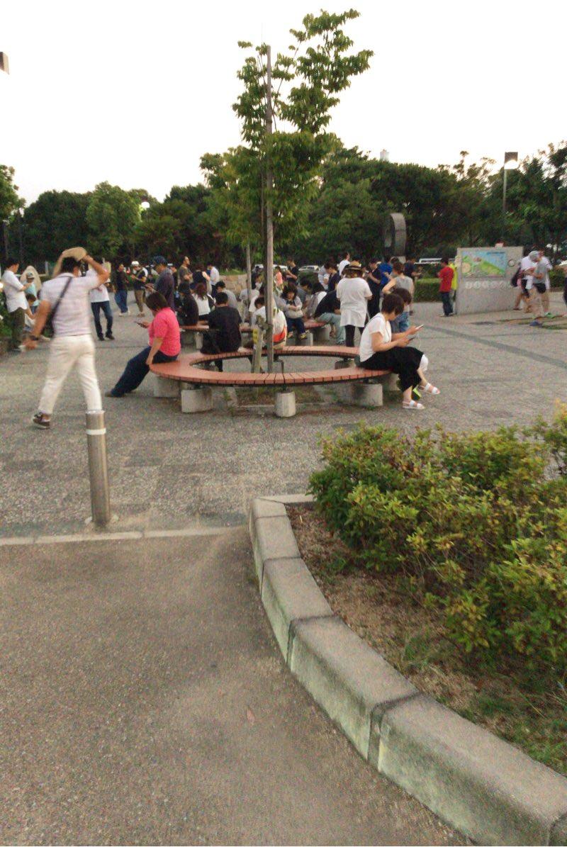 臨海公園に人がいっぱい