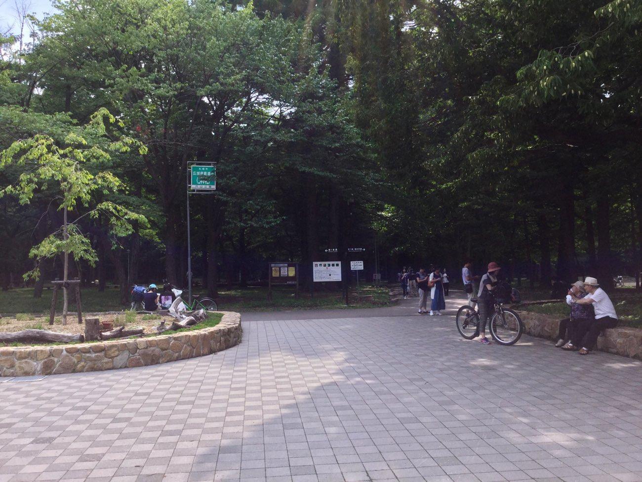 円山公園の入り口付近