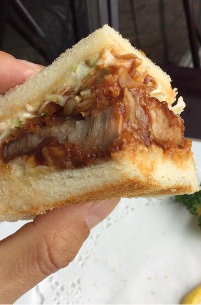 オリーブ豚のポークカツサンドイッチの拡大