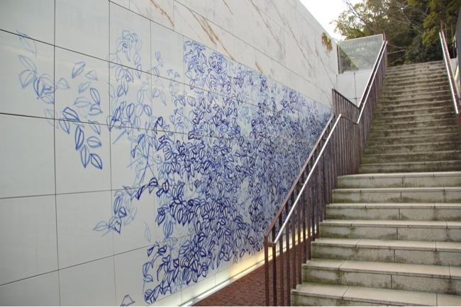 神椿に降りる階段