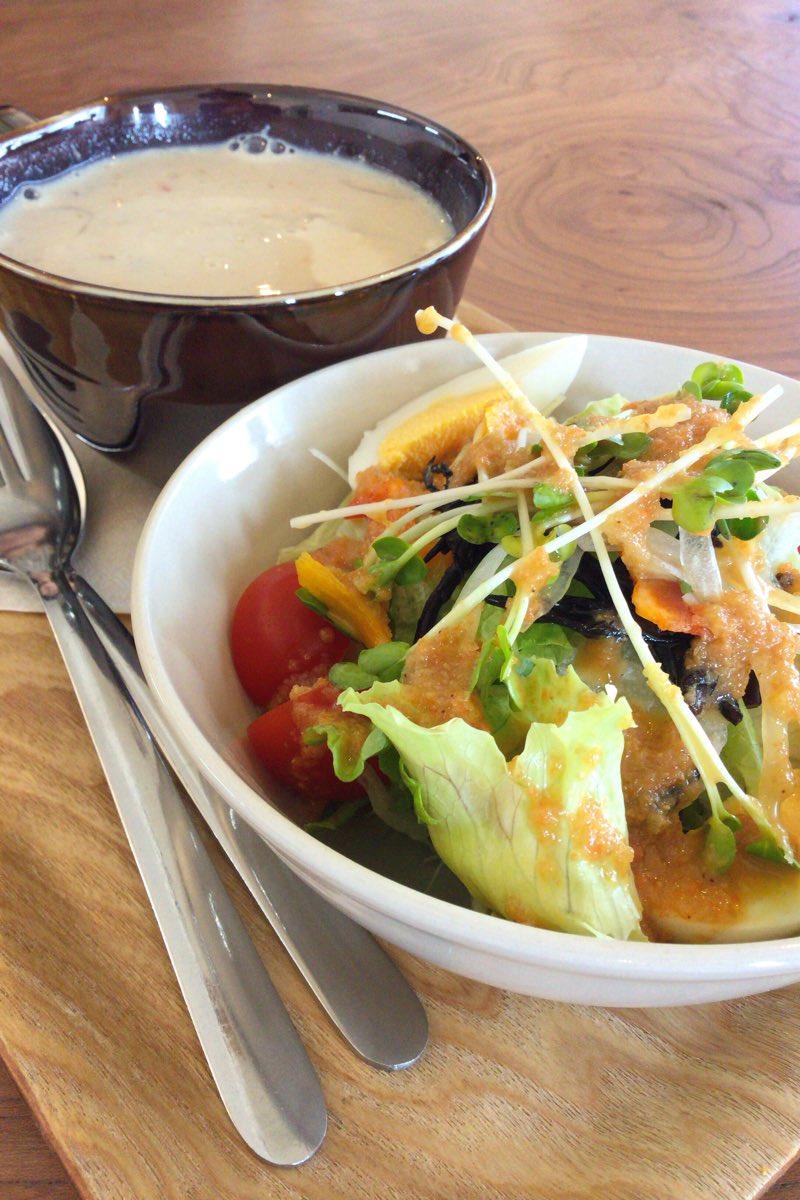 ドリンク&サラダ&スープセットの「サラダ」