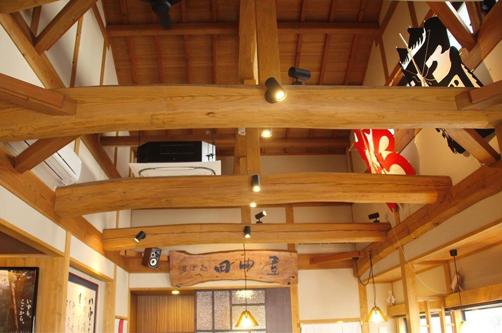 そば処 田中屋の天井