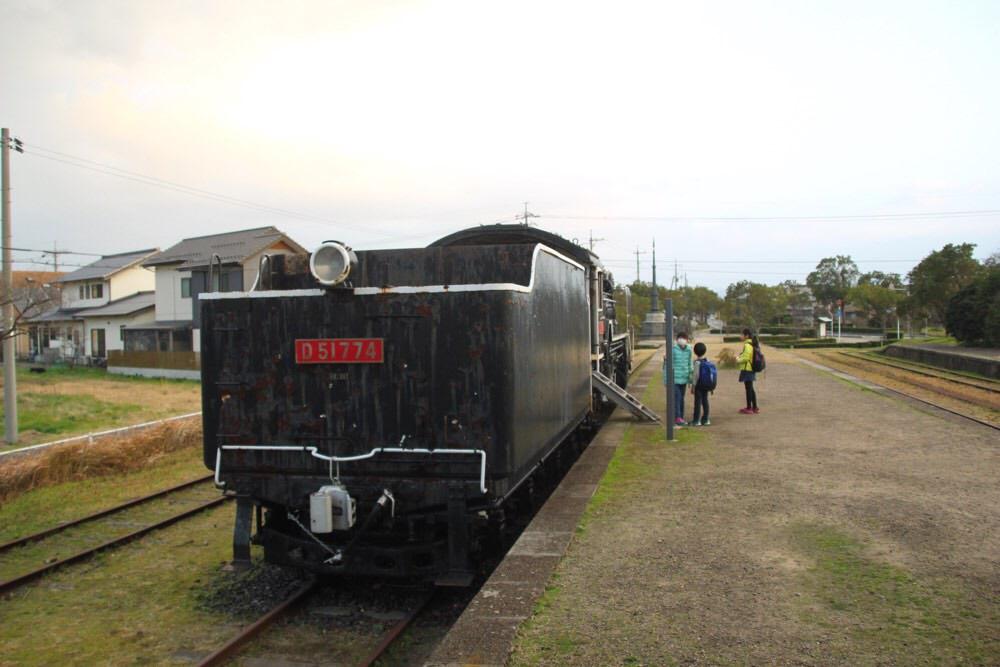 旧大社駅にはSL(蒸気機関車)もある