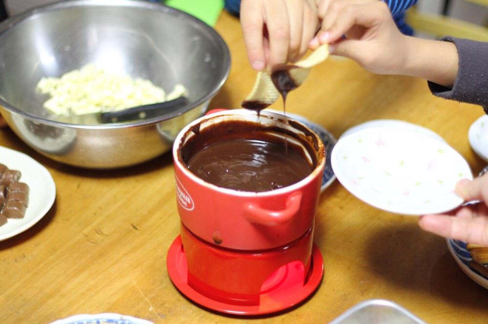 チョコレートフォンデュは最高ですね!
