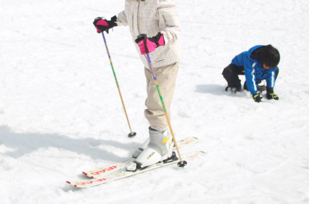 スキー板も装備完了