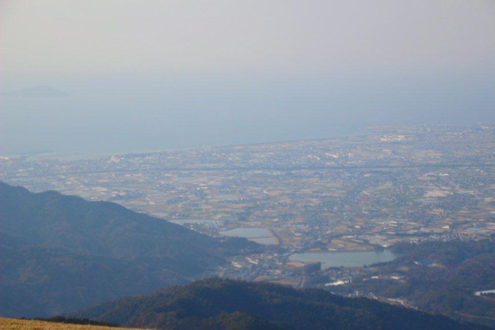 香川県が見える