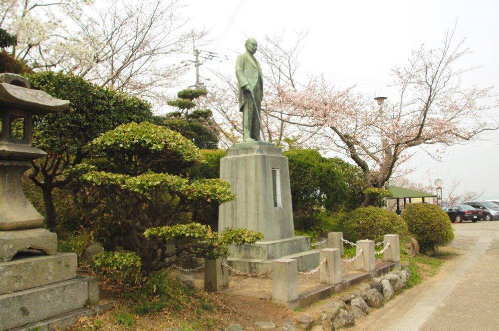 桃陵公園の今井浩三翁像