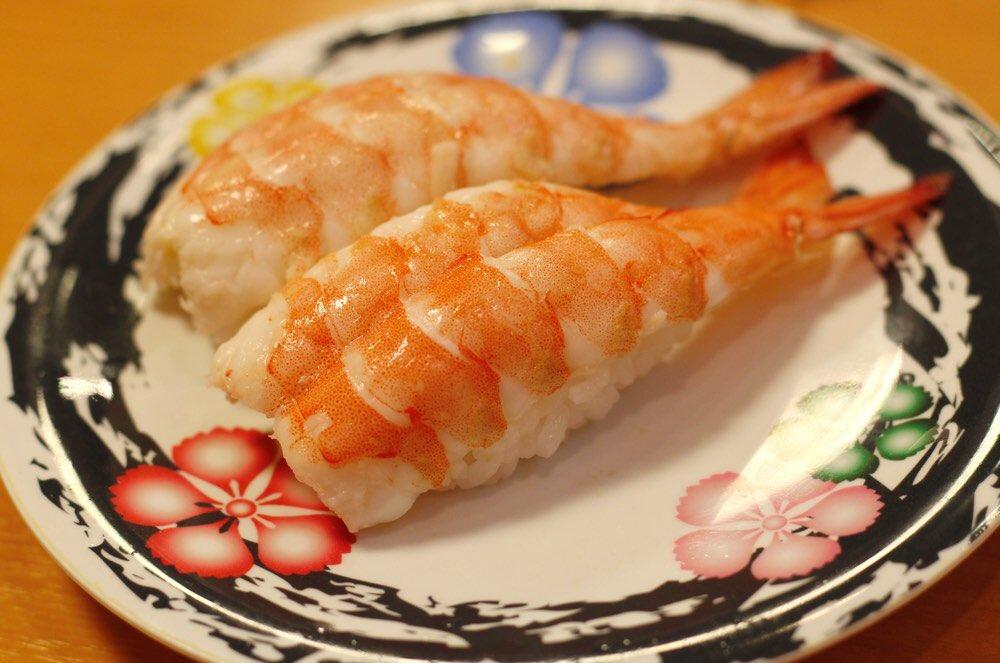 大きいエビの握り寿司