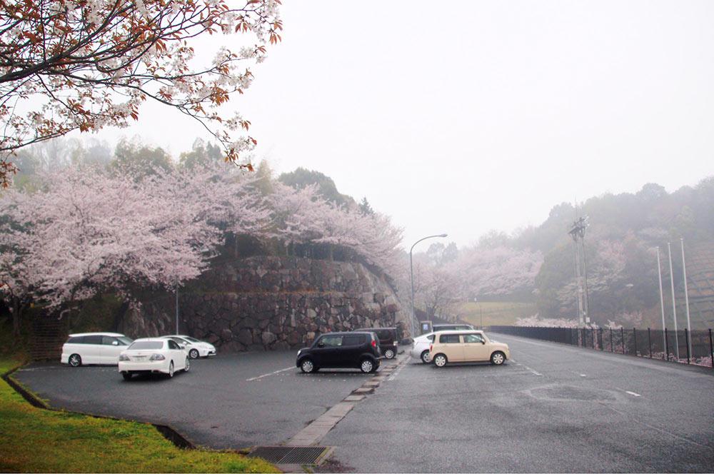 ちびっこ公園の駐車場