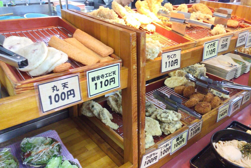 めりけんや かけはし店の天ぷらコーナー