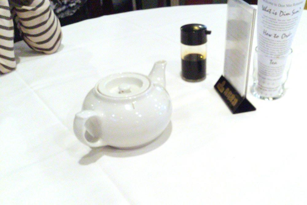 机にはお茶と醤油が