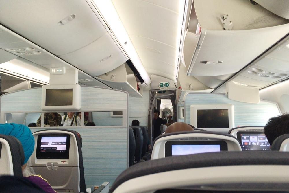 エア・カナダの機内の様子