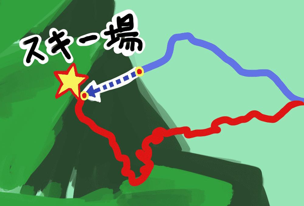 スノーパーク雲辺寺への道のり2