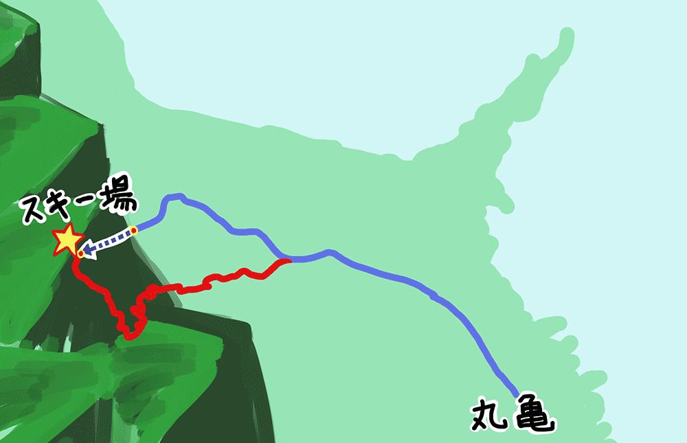 スノーパーク雲辺寺への道のり1