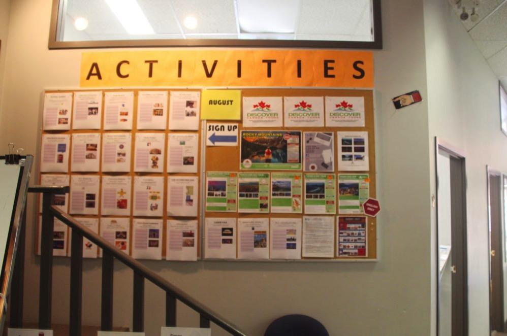 共有スペースにはアクティビティの掲示板が