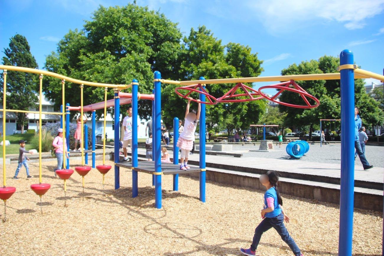 スティーブストン公園の大型遊具