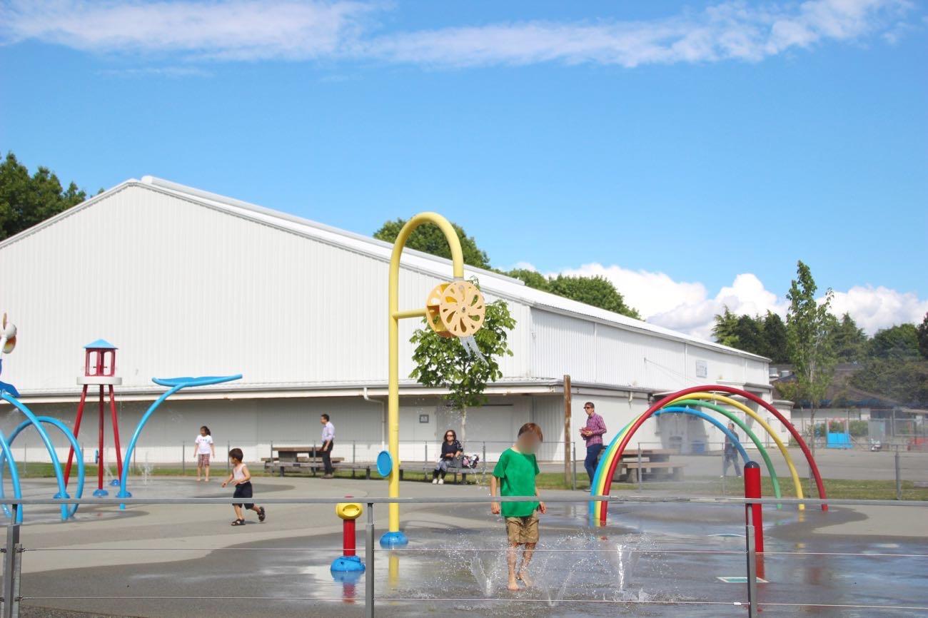 スティーブストン公園の水浴びコーナー
