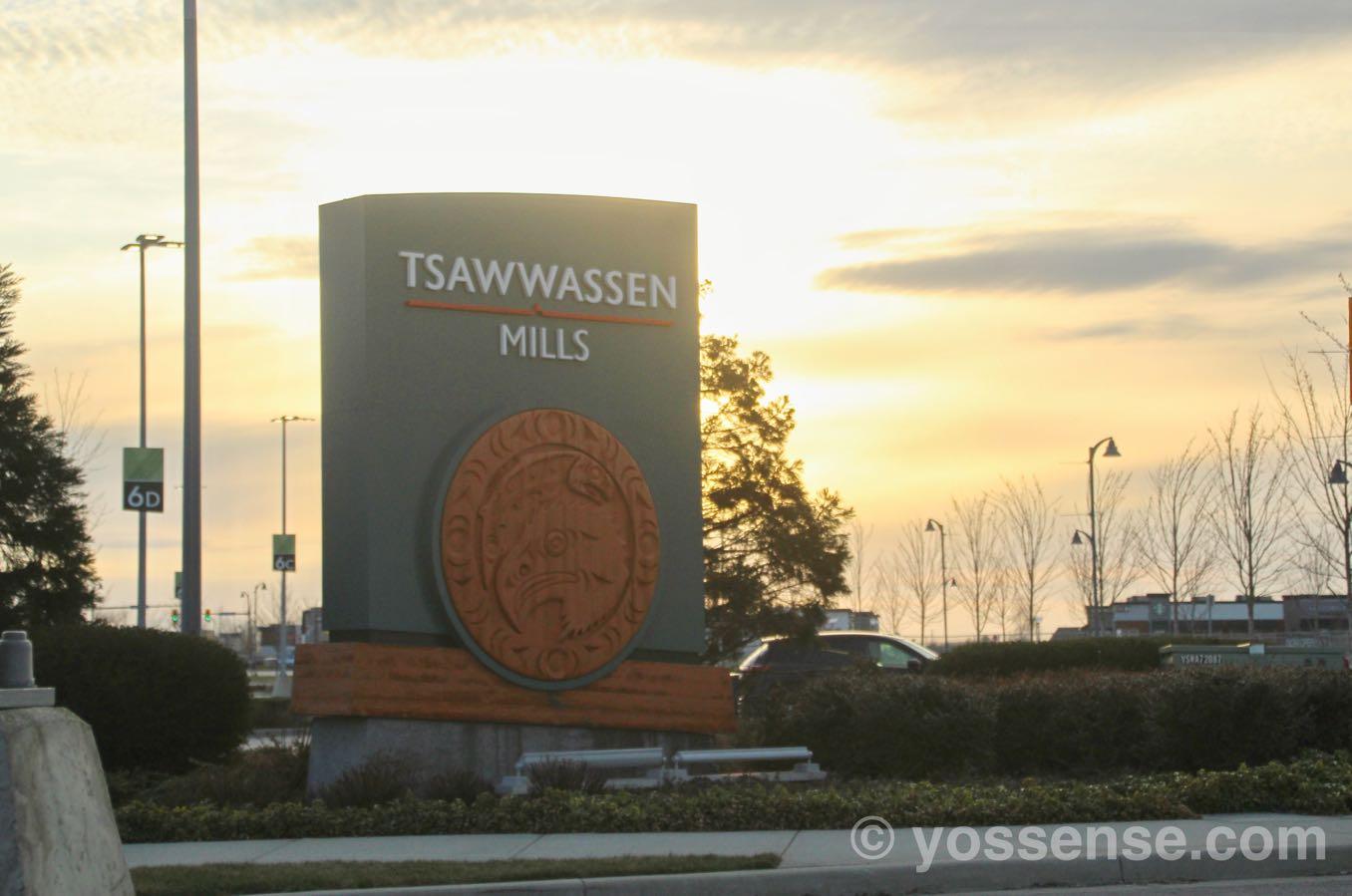 Tsawwassen Mills の看板