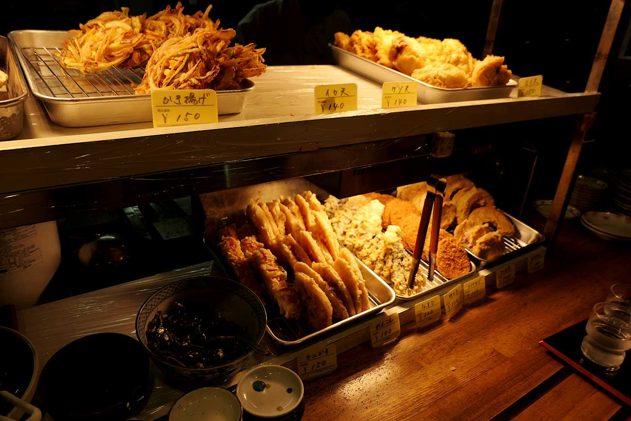 讃州製麺の天ぷらコーナー