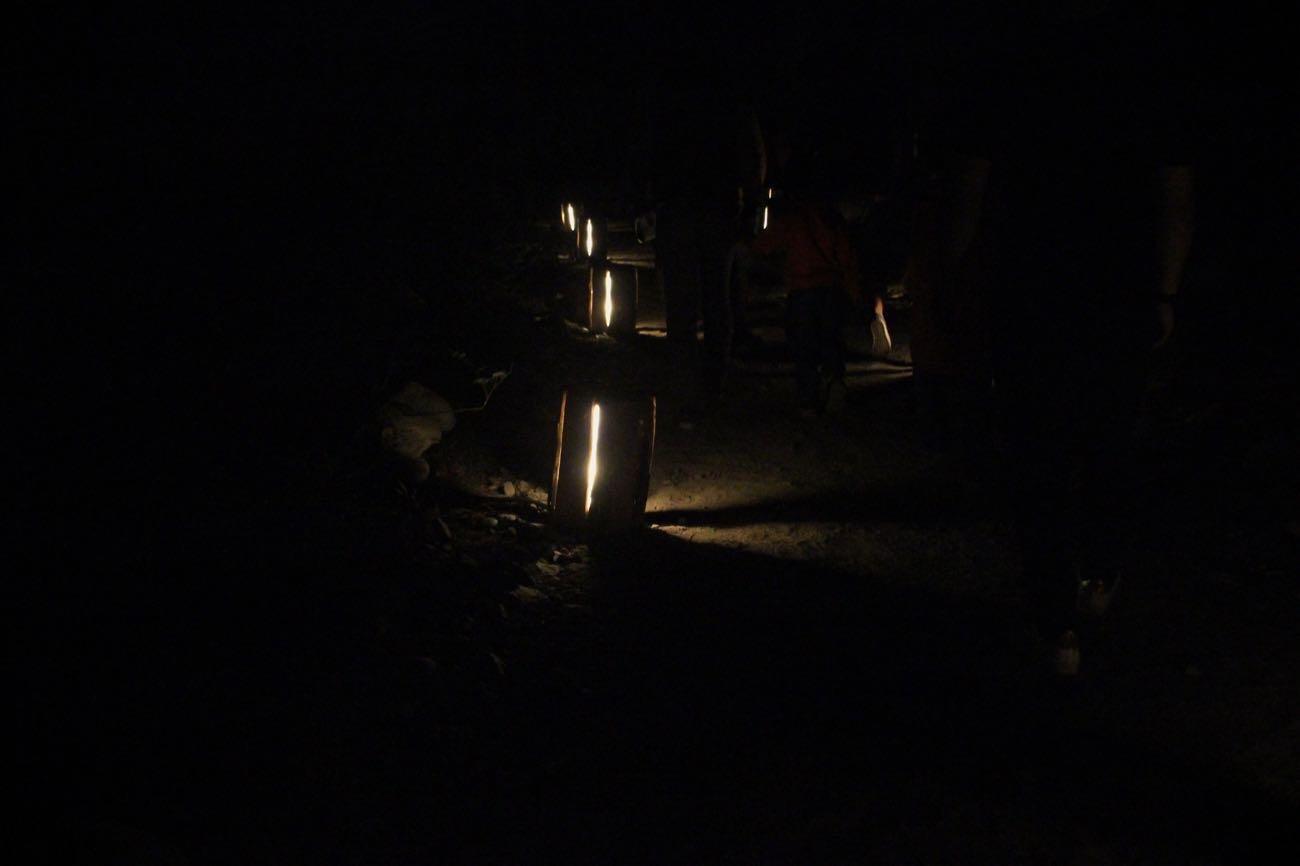 足元にあるランプ